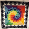 Celestial Star with border pattern by Iris, @crazydutchbirdquilts