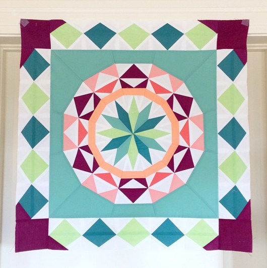 Celestial Star with border pattern by Jenn, @jennrossotti