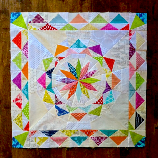 Celestial Star with border pattern by Lori, @lorihartmandesigns