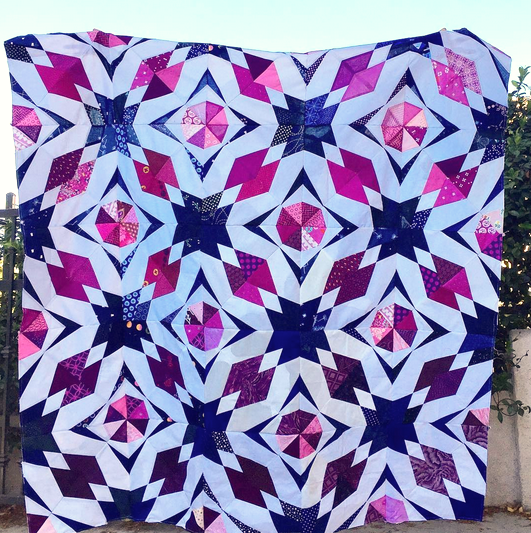 Hidden Gems Group Quilt by Agnes, @finallysewing
