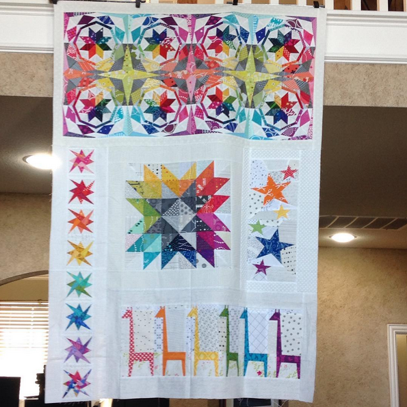 Simple Celestial by Melissa, @mgsquaredcreates, a traveling quilt