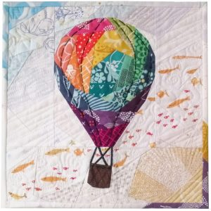 Rise Above Geometric Hot Air Balloon Pattern