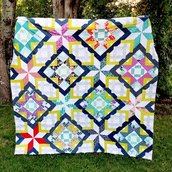 Taurus Gemini quilt by Diane Bohn, @fromblankpages