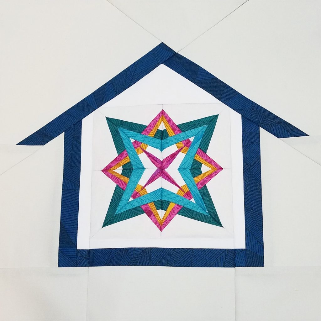6 inch Star Gazing block in Home Lovin house block