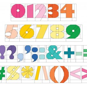 numbers 0-9 and 20 different punctuation marks