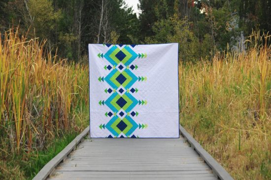 River Pond quilt by Diane Bohn, @fromblankpages
