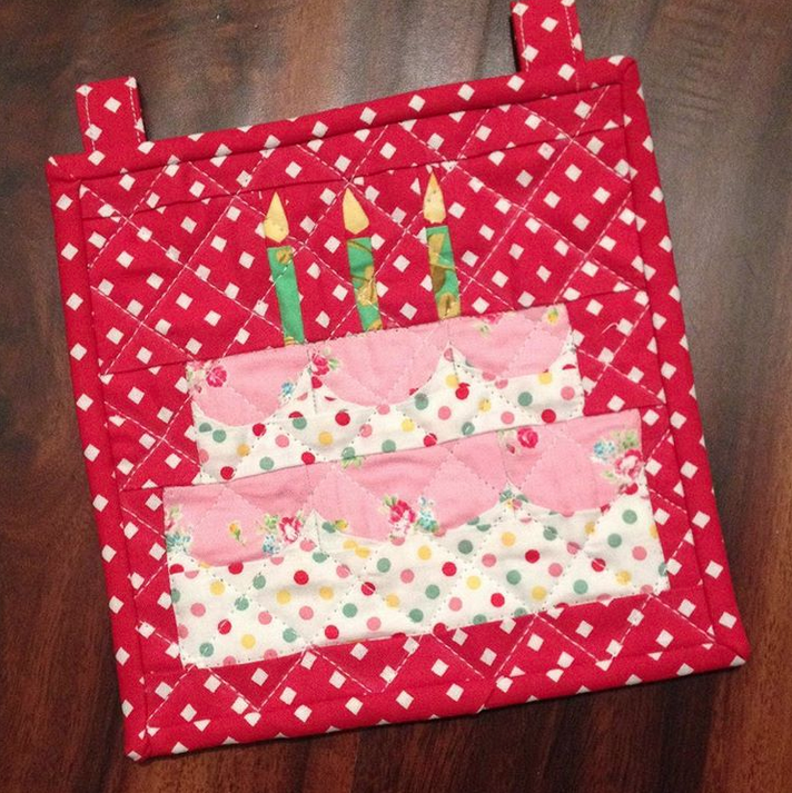 Birthday Cake Mini by Sherry @otterbeequilting