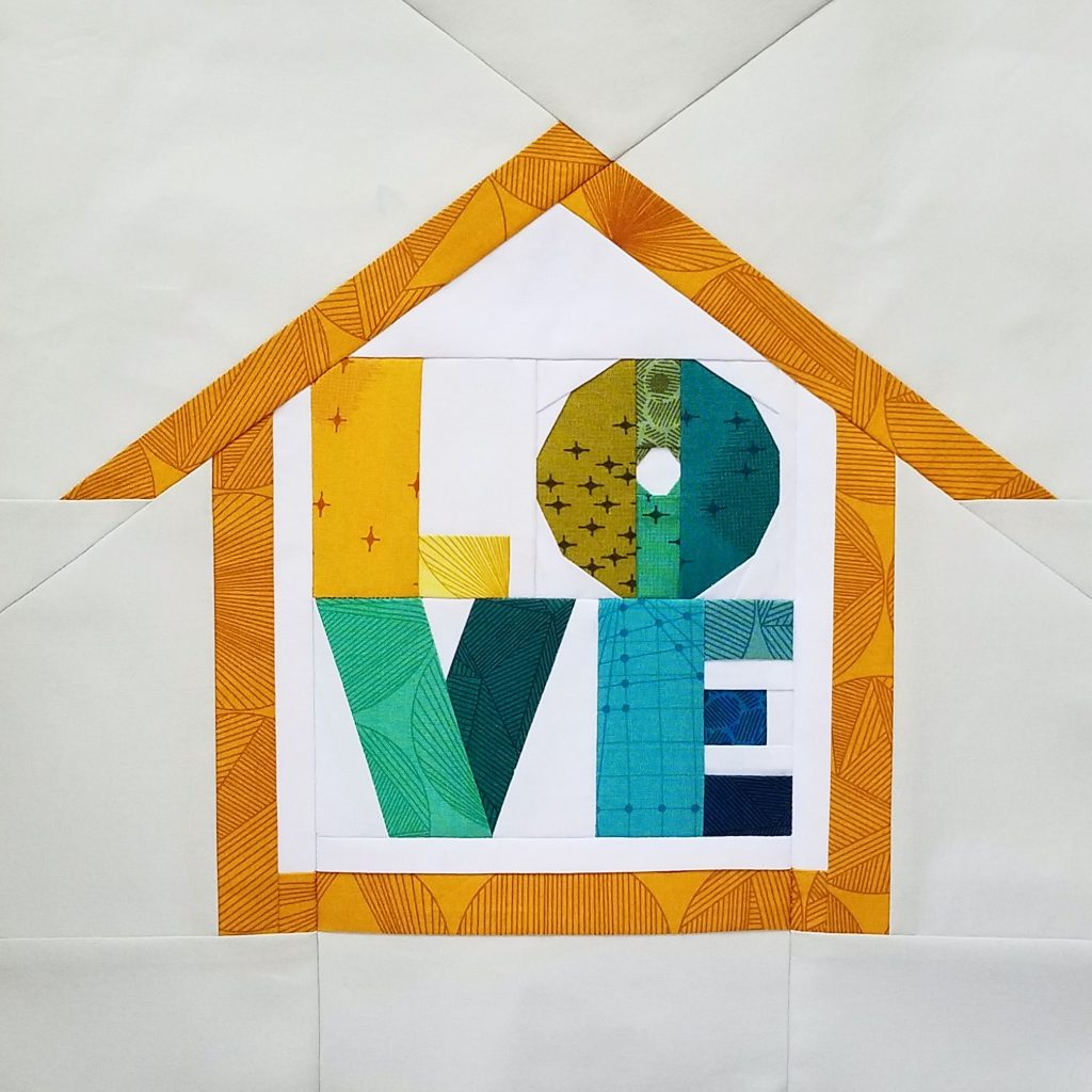 fbp LOVE quilt block Home Lovin Quilt