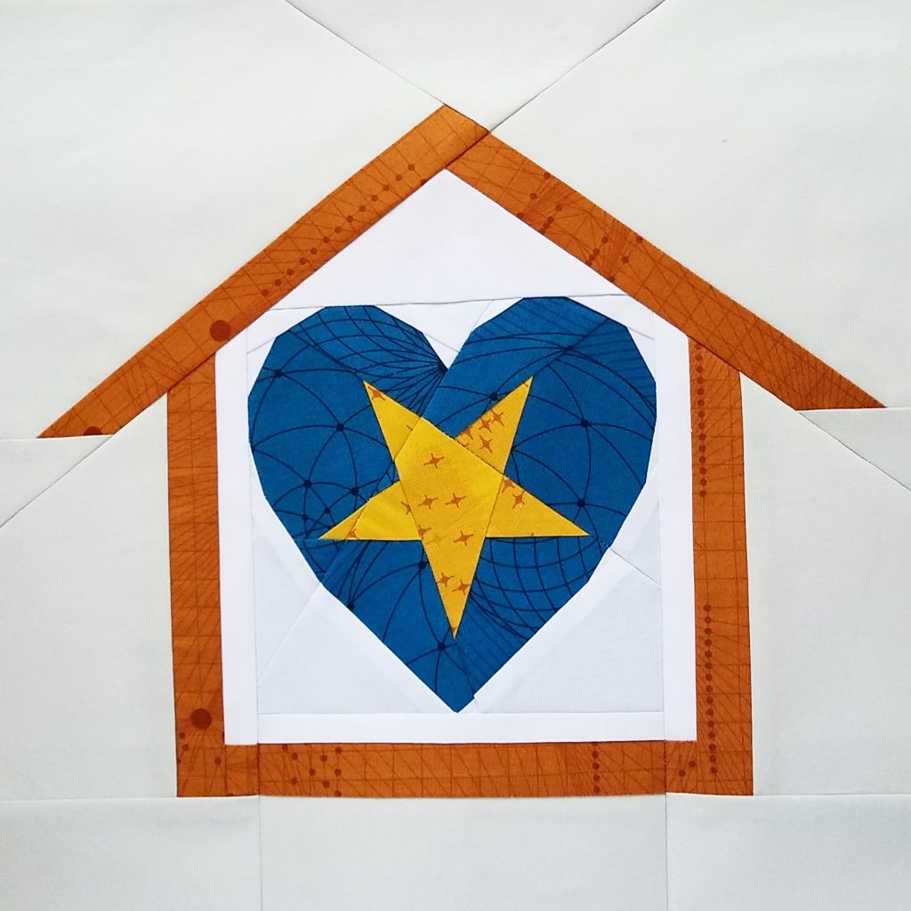 fbp Heart Attack - Star 6 inch quilt block Home Lovin Quilt