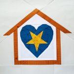 fbp Heart Attack - Star 6 inch quilt block Home Lovin Quilt