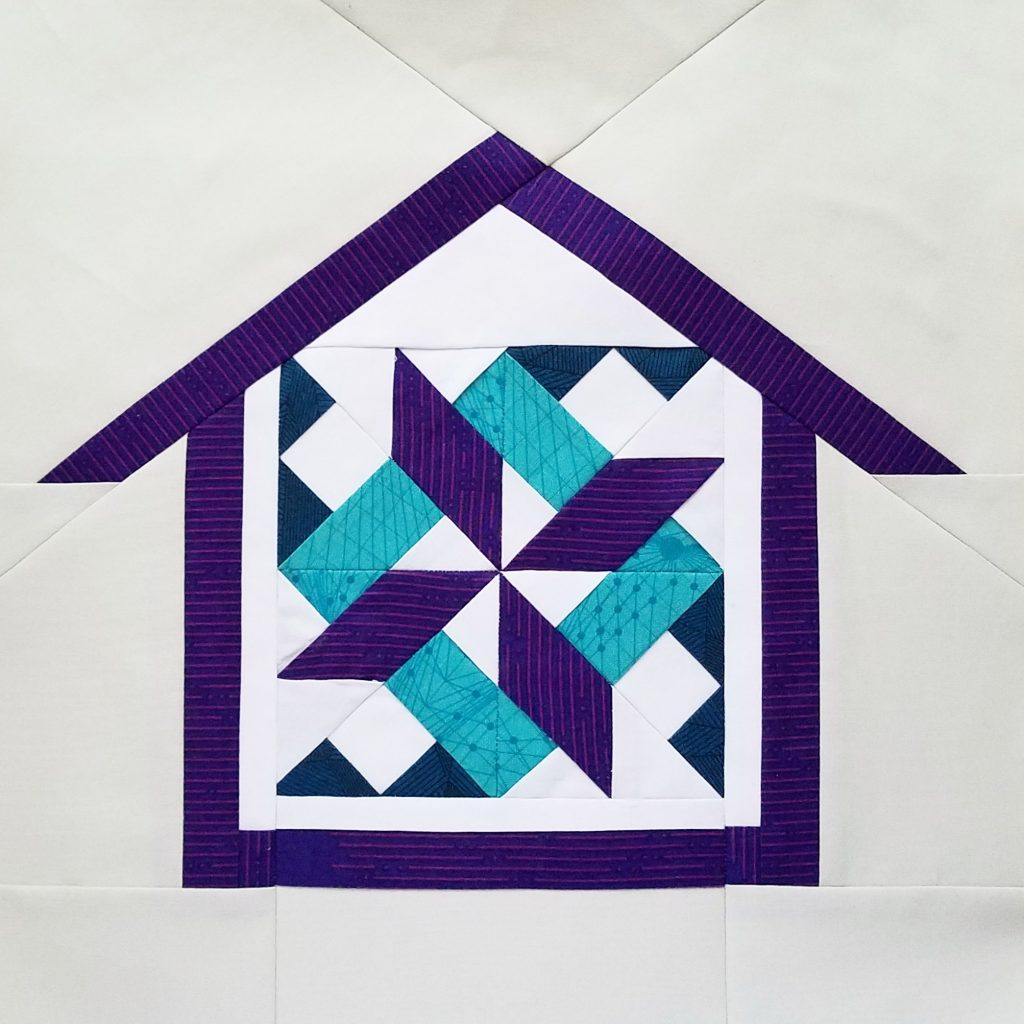 fbp Starry Skyline 6 inch quilt block Home Lovin Quilt