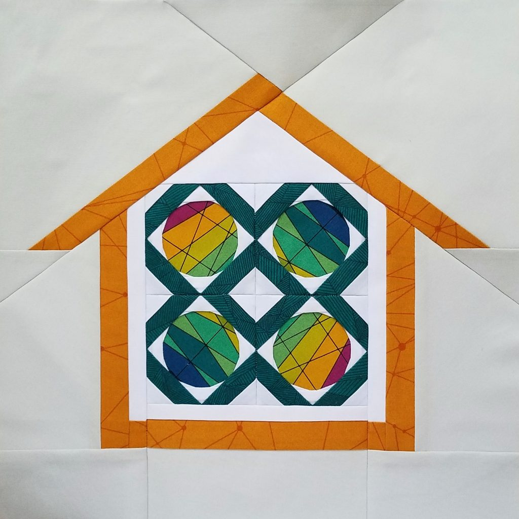 fbp Locked in Spots 4 -3 inch quilt block Home Lovin Quilt