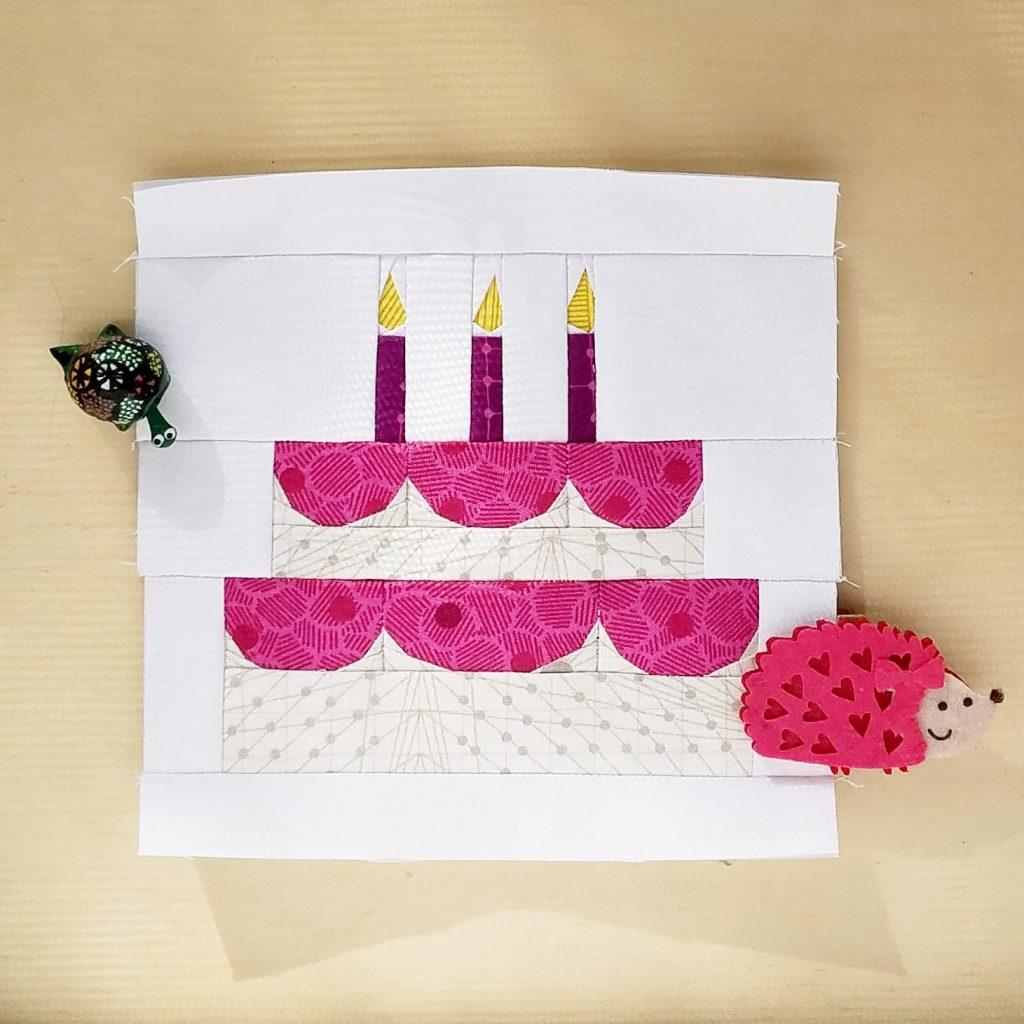 fbp Birthday Cake Mini 6 inch quilt block