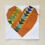 Heart Attack Mini Geese quilt block