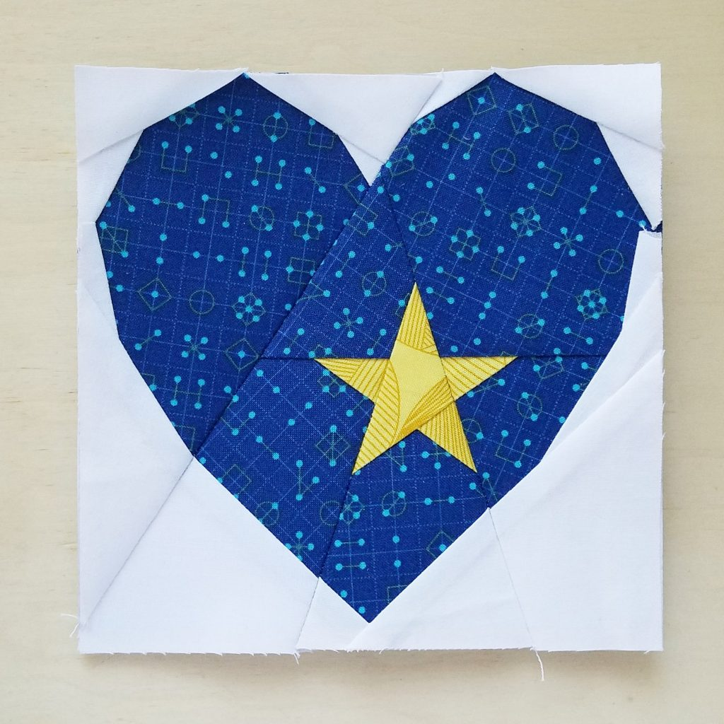 Heart Attack Mini Star quilt block