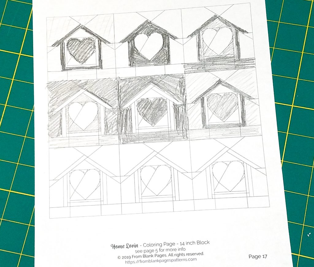 Home Lovin Coloring Page in black and white