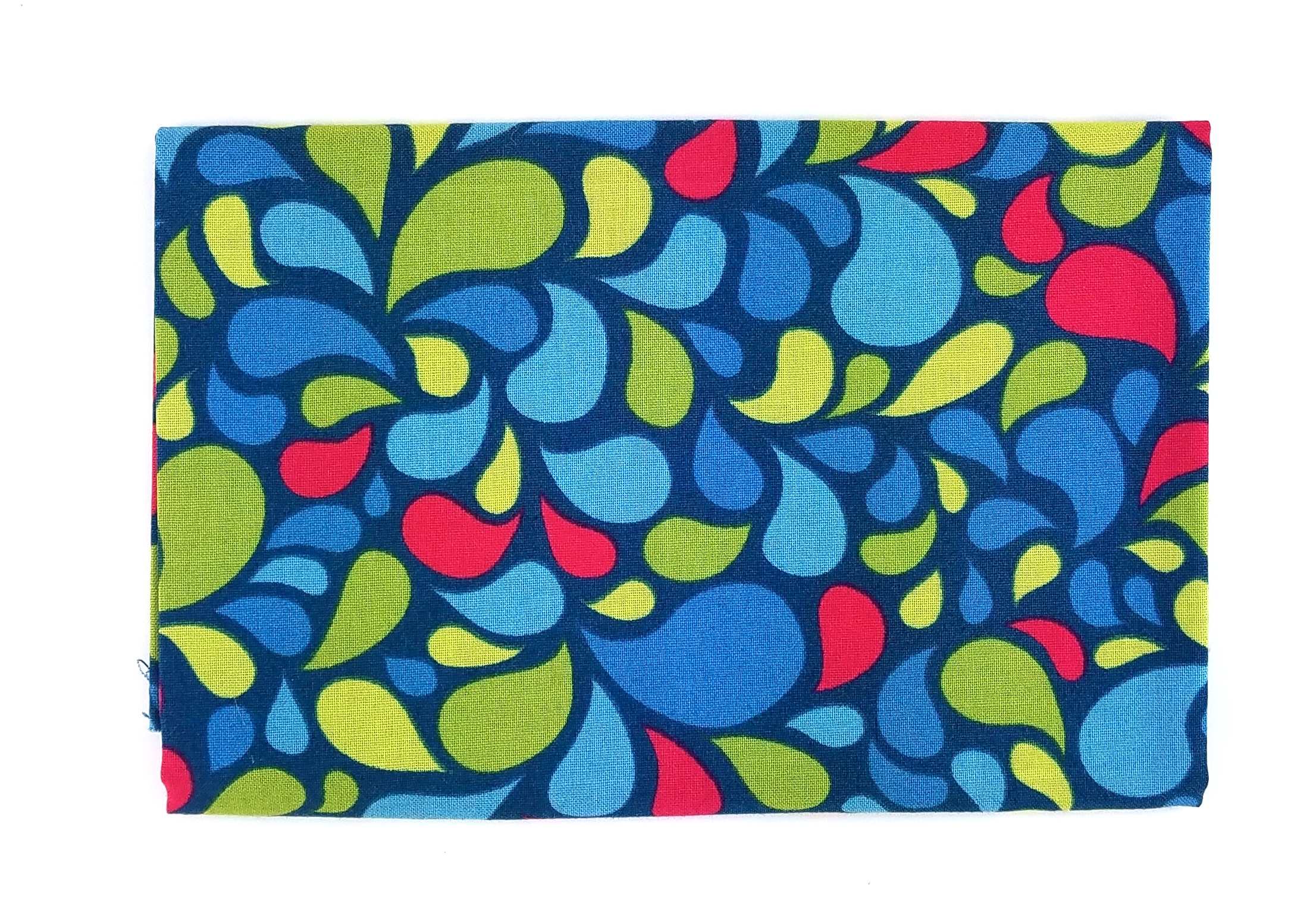 April Rosenthal, Best Day Ever, Blue Swirls, Fat Quarter, Missing 5 in x 6 in