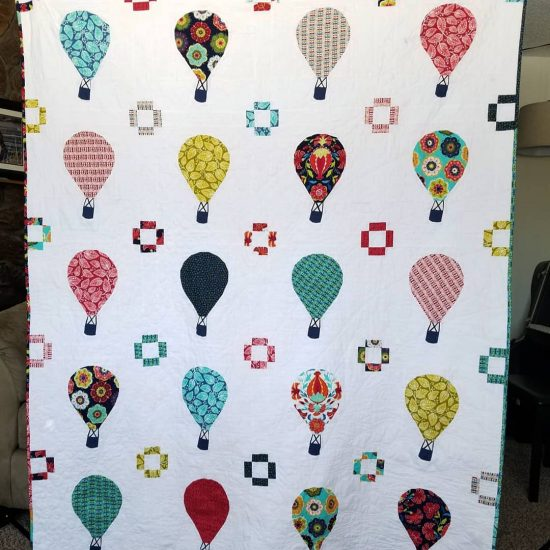Rise Above quilt by Cris, @jcbmom3 and Diane, @fromblankpages
