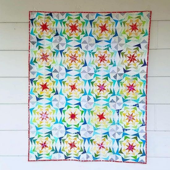 80's Geese Charity quilt by awesome pattern testers!!