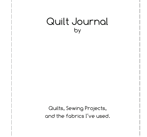 Quiltt Journal title page
