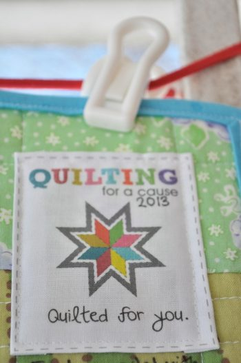 Quilting For a Cause Quilt Label